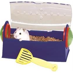 Hamster toilet med låg